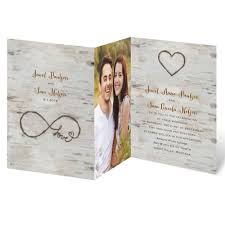 Wedding Invitation With Photo Love For Infinity Trifold Invitation