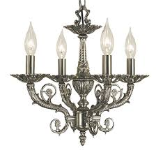 napoleonic v collection 4 light small traditional chandelier
