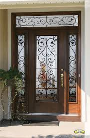 wrought iron front doorsWrought Iron Glass Front Entry Doors  Mediterranean  Entry