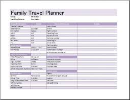 trip planner templates trip planner template present day depict simple travel itinerary 03