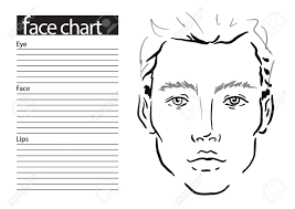 Free Printable Face Charts For Makeup Artists 9 Man Face Chart Makeup Artist Blank Template Vector