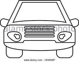 car outline front. Contemporary Car Car Vehicle Transport Front View Outline  Stock Photo Intended Car Outline Front