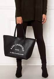 Karl Lagerfeld Rue St Guillaume Tote Black Nickel Bubbleroom