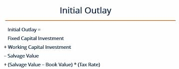the initial outlay for projects can be calculated with the following formula