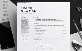 Introducing 'Frankie', a simple professional design with emphasis on your  profile, education and experience. Including a single page resume/cv and  cover ...