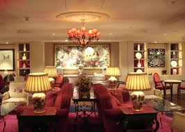 the rose lounge features a very feminine with subtle colour scheme of pink and cream