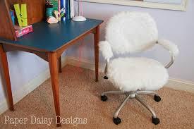 fancy furry office chair simple ideas furry desk chair pottery barn