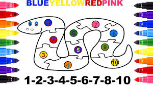 Small Picture Snake Coloring Page Learn Numbers 1 to 10 Puzzle YouTube