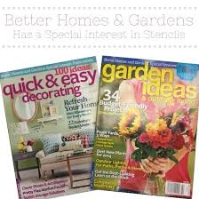 better homes and garden magazine. Better Home And Garden Magazine Cutting Edge Stencils Was Featured In Homes Gardens Special Interest .