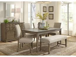 Liberty Furniture Weatherford Rustic Casual  Piece Dining Table - Dining room chair sets 6
