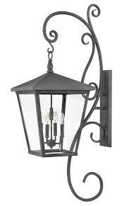hinkley lighting 1439 ll trellis 4 led light extra large outdoor wall mount