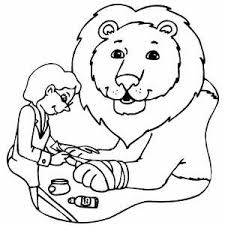 Lion At Veterinarian Coloring Page