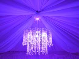 marquee with crystal chandelier