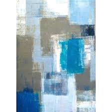 cropped master blue and white painting impressionist style landscape