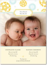twin birth announcements photo cards twins photo birth announcements from tinyprints com babies and