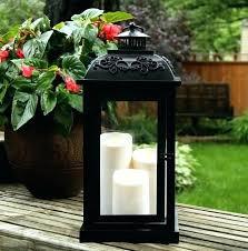 superb outdoor candles luminara heritage lantern 25 genuine candle with remote pillar ivory moving wick led timer set of 3 heri