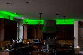 over cabinet lighting ideas. Green LED Over Kitchen Cabinet Lighting With Pendant Light Island Also Wooden Set Ideas G