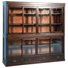 bookcase sliding glass doors decoration shelf