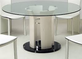 Modern Glass Kitchen Tables Modern Round Glass Dining Table