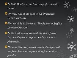 john dryden as a critic 4