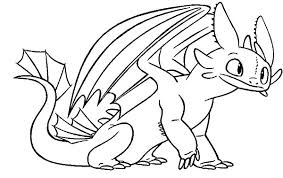 Small Picture Toothless Sit Calmly in How to Train Your Dragon Coloring Pages