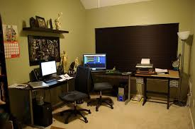 stylish home office computer room. Awesome Office Reception Area Decor With Grey Wall Paint Color And Red Floor Rugs | Cool Designs Ideas Pinterest Gray Paints, Stylish Home Computer Room E