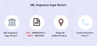 Sbi Nagarjuna Sagar Ifsc Code Sbin0020172