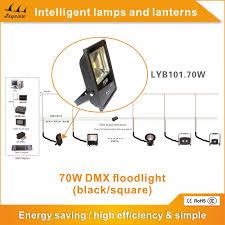 70w dmx control led flood light black square outdoor flood light