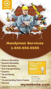 handyman business customizable design templates for handyman business card