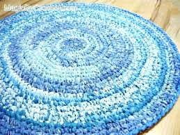 round rag rug large size of oval crochet pattern circular blue floor loom for