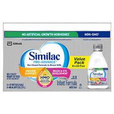 Similac Pro-Advance HMO Ready To Feed Infant Formula 8-count, 32 fl oz
