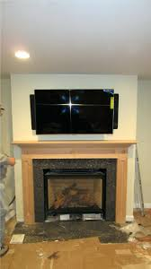 mounting plasma tv over brick fireplace wall mount above