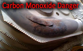 york heat exchanger. cracked heat exchanger in a furnace or boiler - carbon monoxide danger york