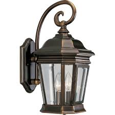 progress lighting crawford collection 2 light oil rubbed bronze outdoor wall lantern p5671 108 the home depot
