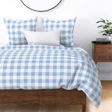 Light Blue Gingham Duvet Cover Amazon Com Roostery Duvet Cover Blue And White Plaid Light