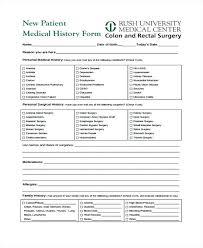 Patient Information Form Template Designtruck Co