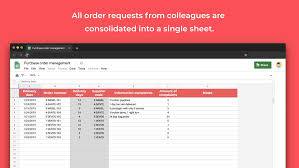 purchase order spreadsheet purchase order management template sheetgo