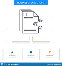 Content Files Sharing Share Document Business Flow Chart