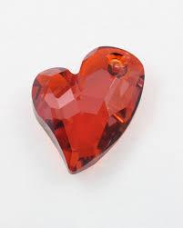 pendant swarovski crystal devoted to u heart 6261 36 mm sold