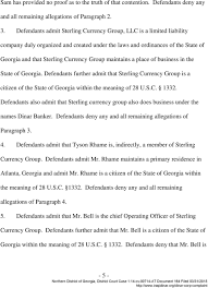 Sterling Currency Group Atlanta In The United States District Court Northern District Of Georgia