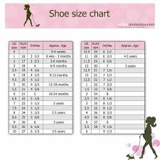 5 Year Old Boy Shoe Size Chart Kids Shoe Size Chart Urban Mommies