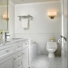 carrara tile bathroom. Vancouver Carrara Subway Tile With Solid Color Bath Sheets Bathroom Traditional And Sconce U