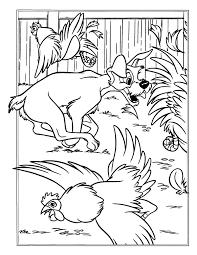 Kleurplaten Paradijs Kleurplaat Vagebond Jaagt Achter De Kippen