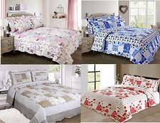 Decorative Quilts & Bedspreads | eBay & New Quilted Comforter Bedspread Patchwork Single Double King Shams Vintage Adamdwight.com