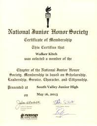 National Honor Society Program Template Sample Certificate Of Honor