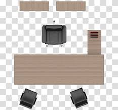 Table Top Size Chart Brown Wooden Table Beside Three Black Leather Rolling Chairs