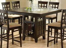 dining tables tall square dining table counter height chairs black square wooden table with shelves