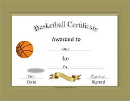 Free Online Basketball Certificate Templates 8 Basketball