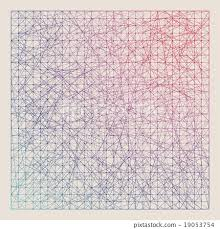 Vintage Color Graph Paper Background Vector Stock