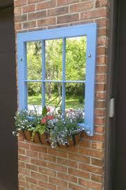 Altes Fenster Mit Spiegel Statt Glas Deko Garten Gartenspiegel